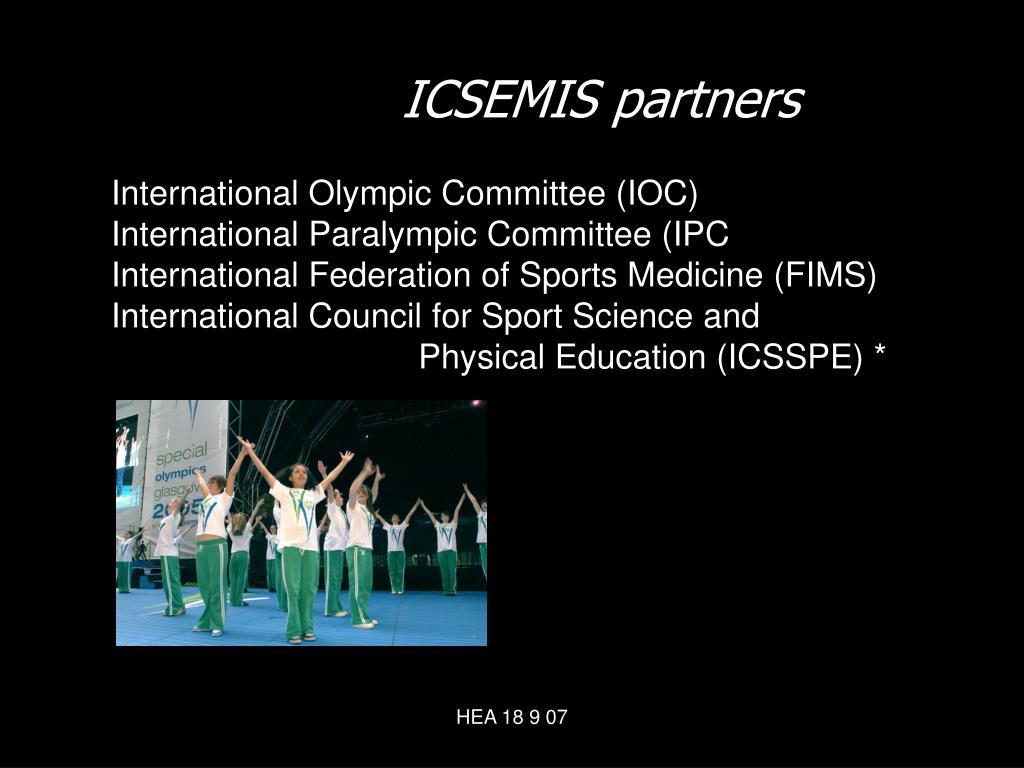 ICSEMIS partners