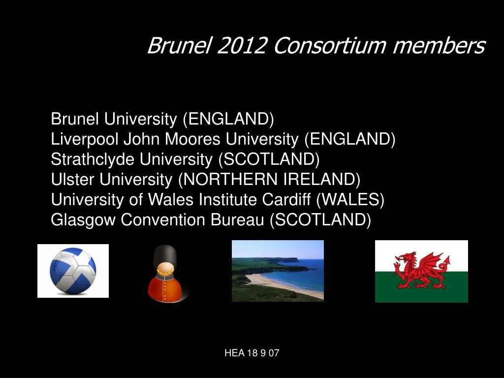 Brunel 2012 Consortium members