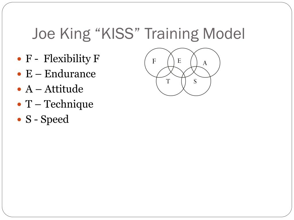 "Joe King ""KISS"" Training Model"