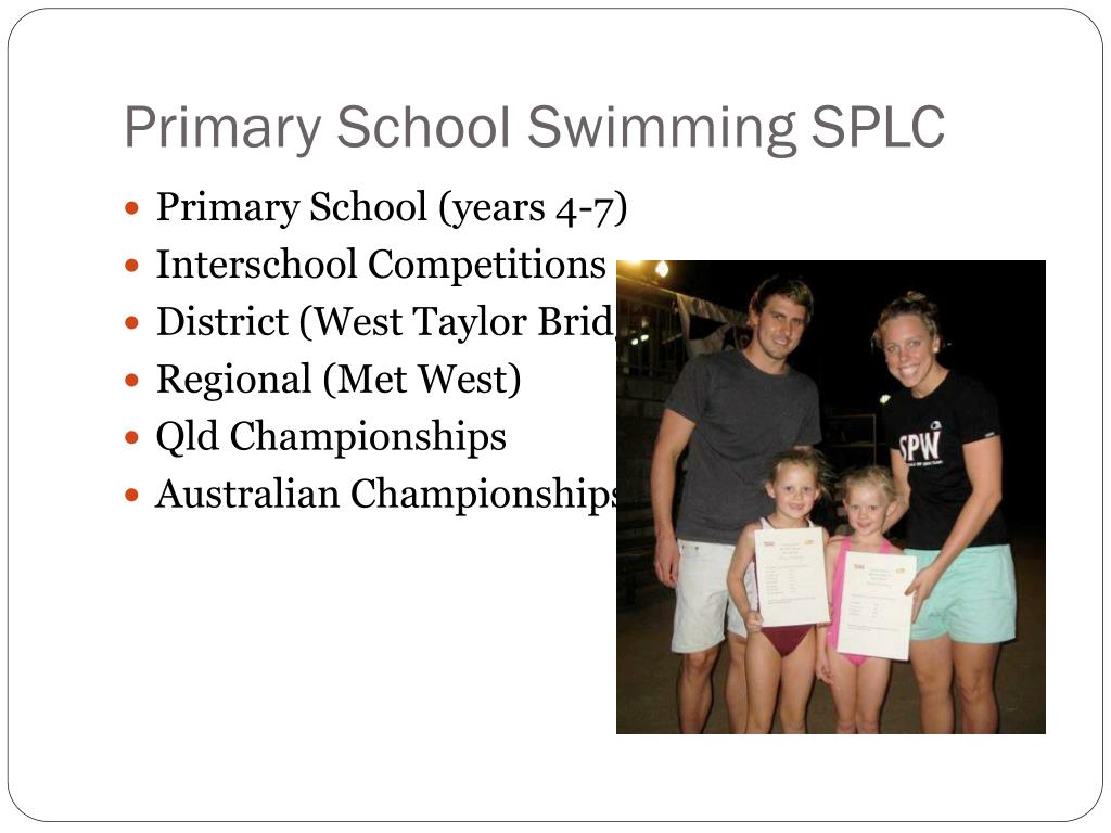 Primary School Swimming SPLC