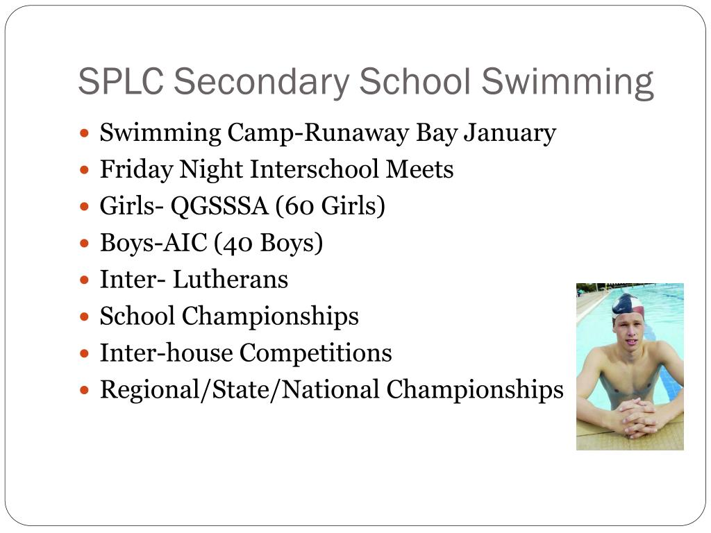 SPLC Secondary School Swimming