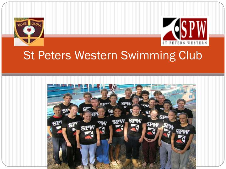 St peters western swimming club