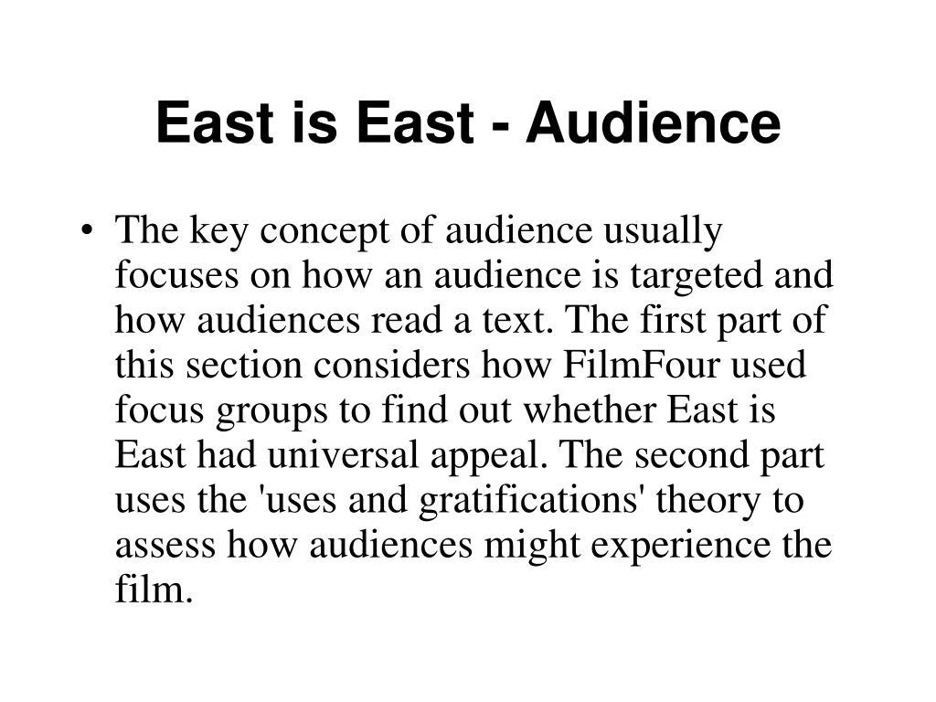 East is East - Audience
