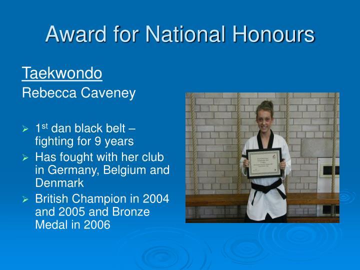 Award for National Honours