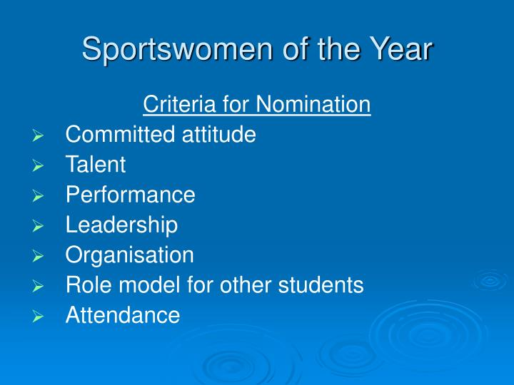 Sportswomen of the Year