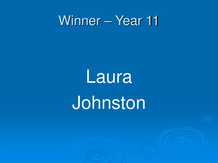 Winner – Year 11