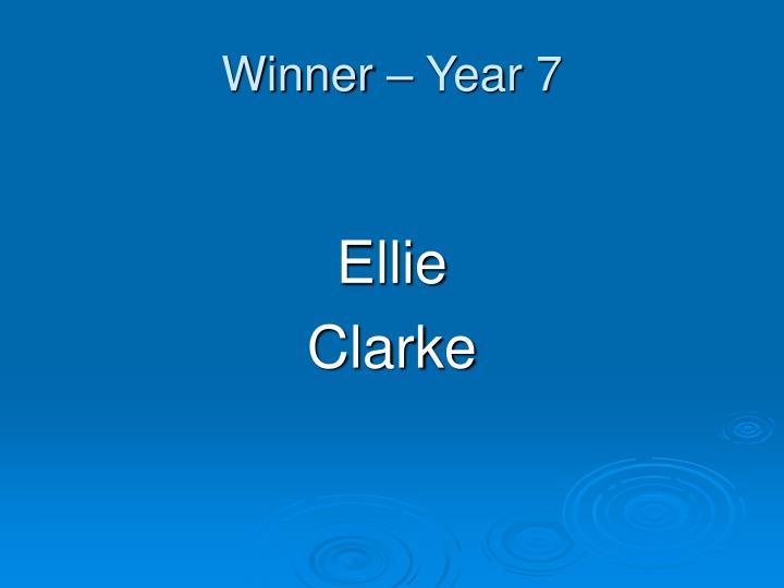 Winner – Year 7