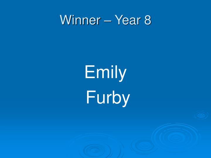 Winner – Year 8
