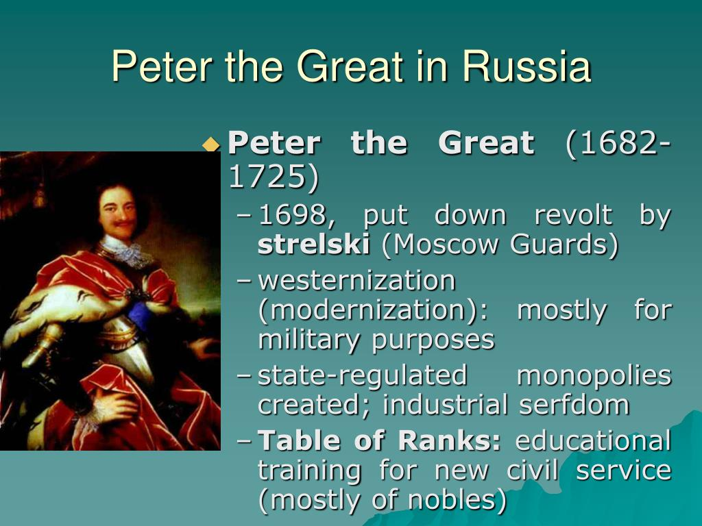 Peter the Great in Russia