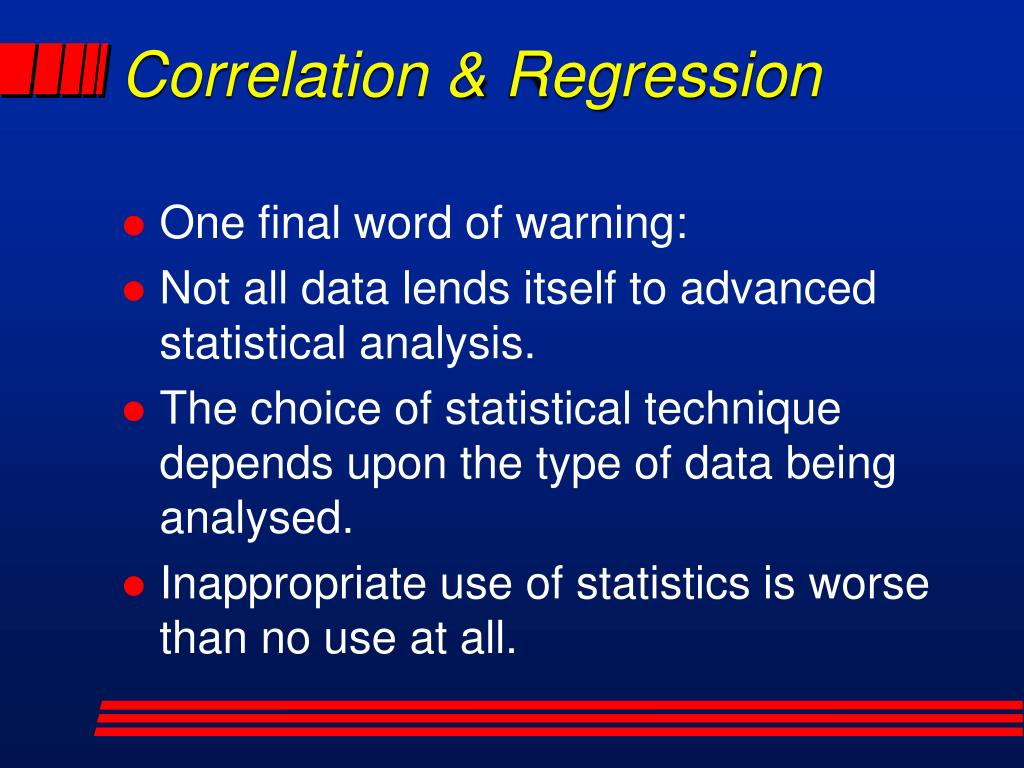 Correlation & Regression