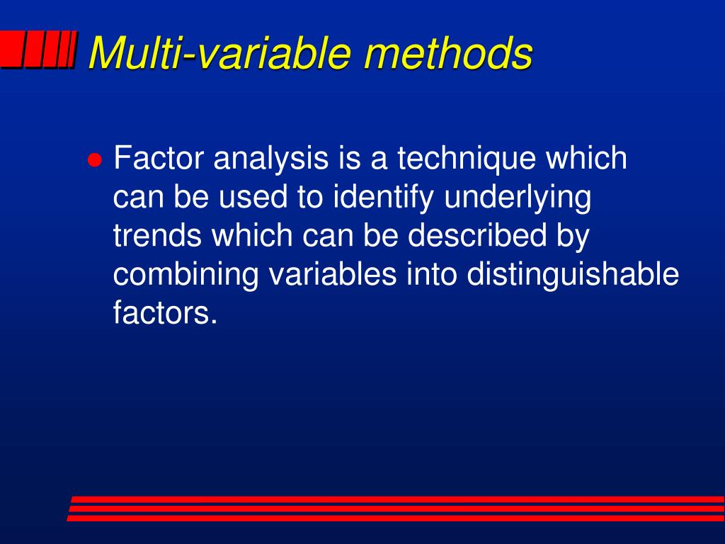 Multi-variable methods
