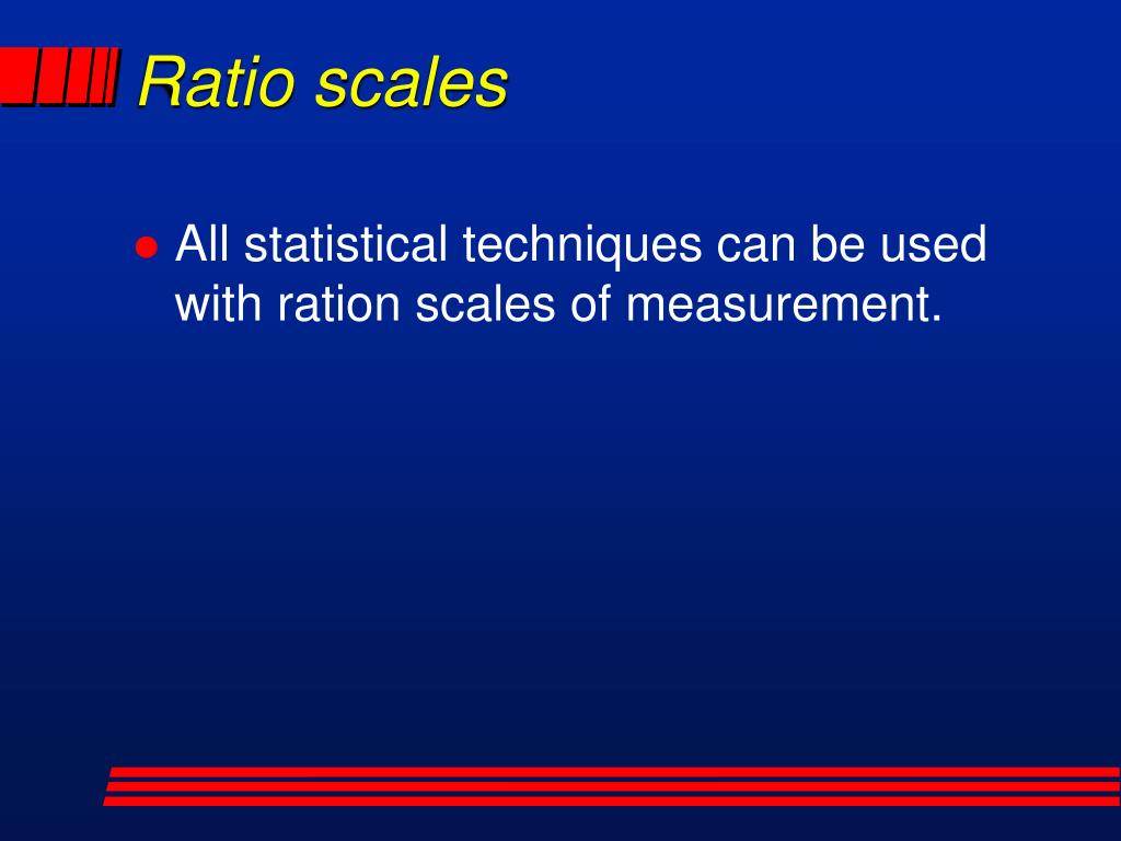 Ratio scales