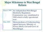 major milestones in west bengal reform