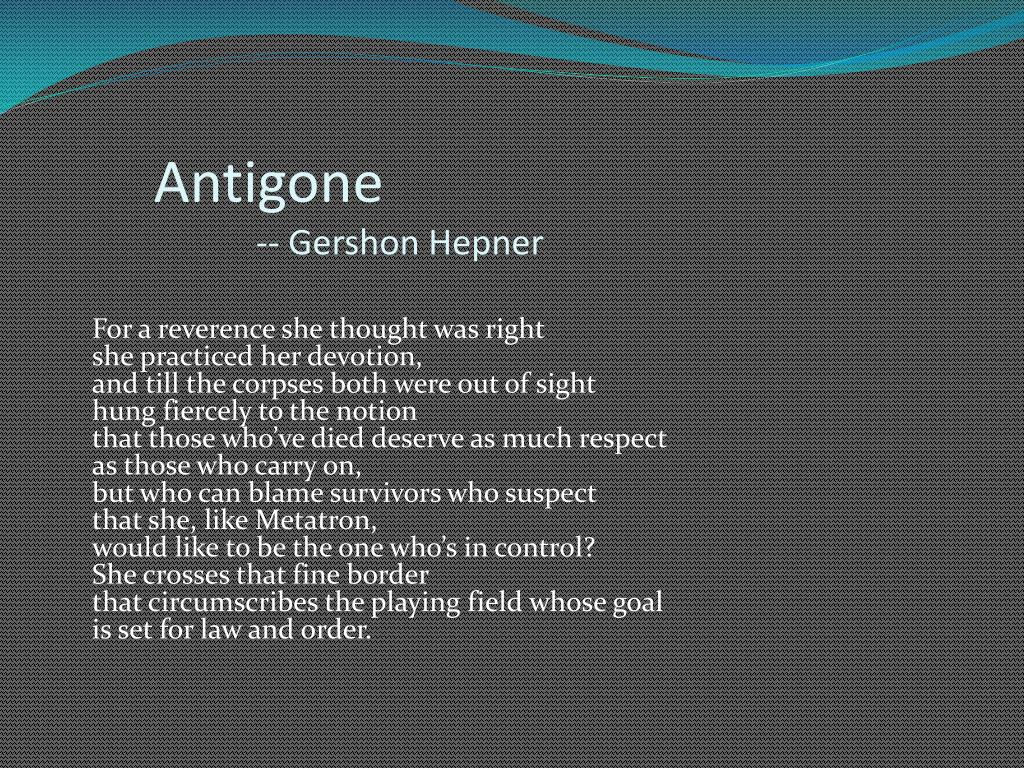 Oedipus and antigone essay