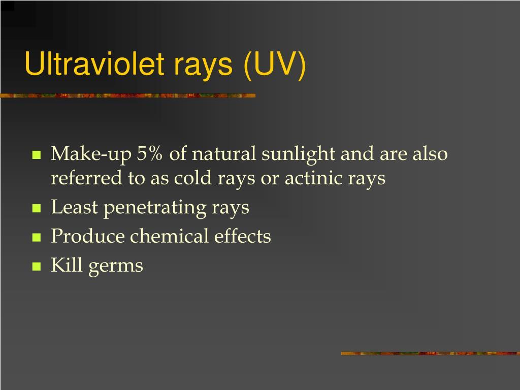 Ultraviolet rays (UV)