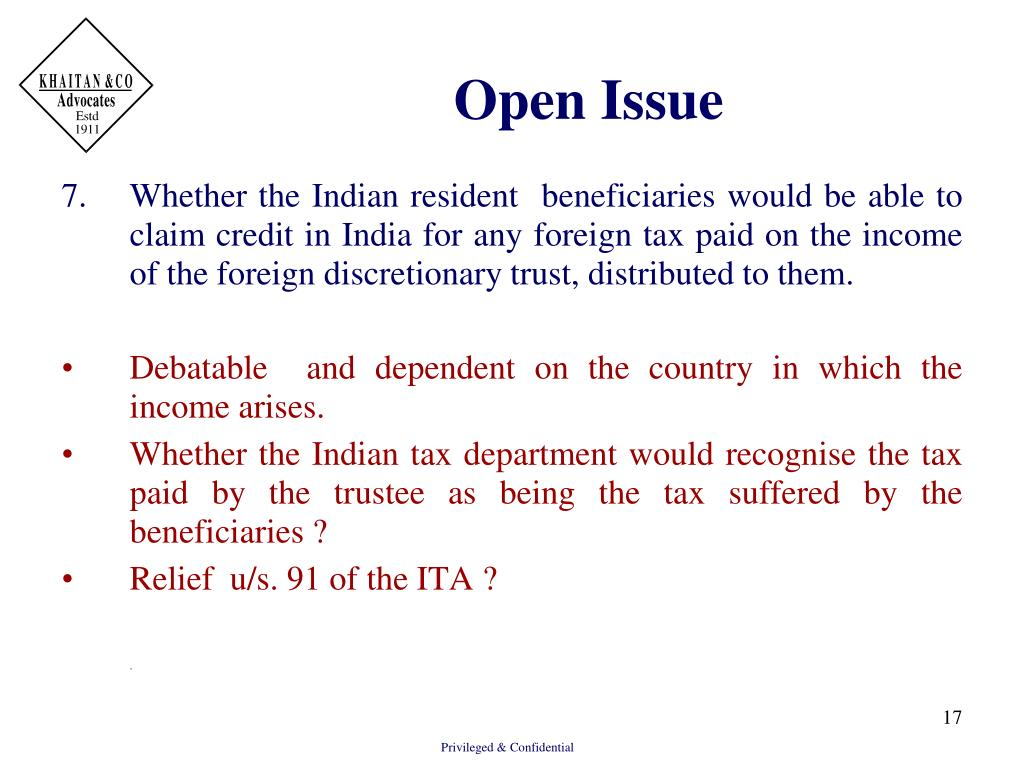 Open Issue