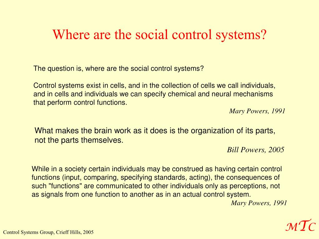 Where are the social control systems?