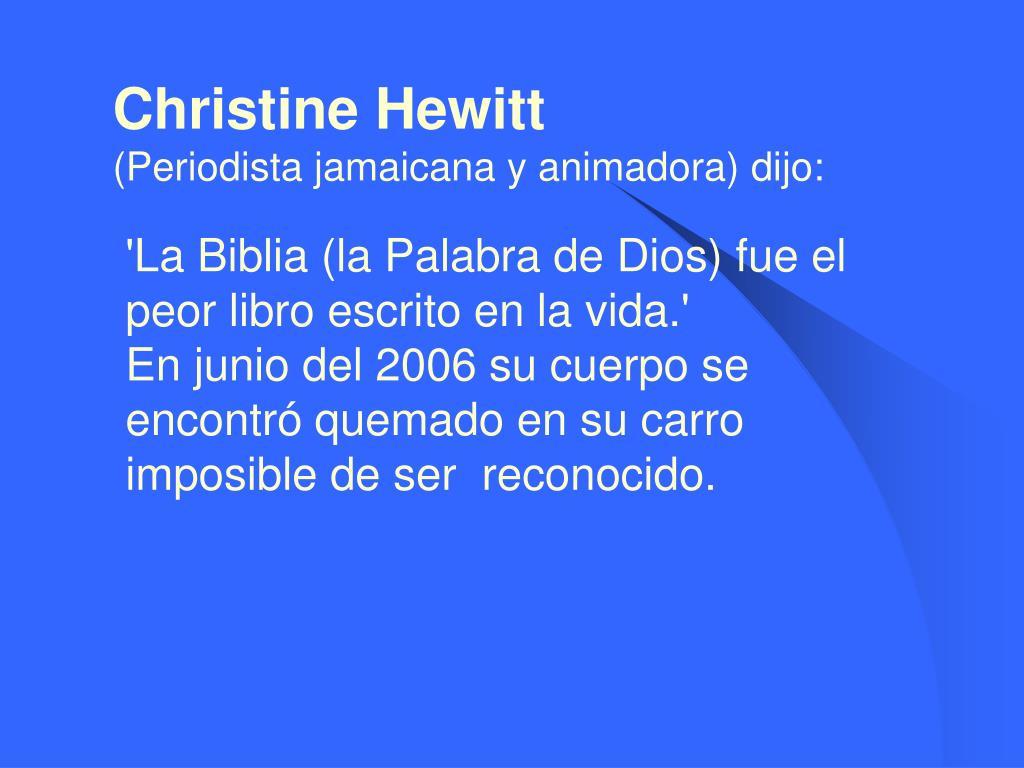 Christine Hewitt