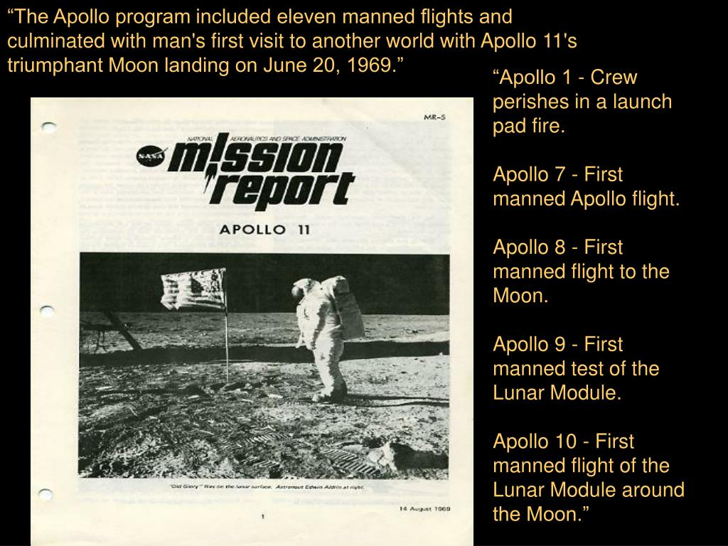 """The Apollo program included eleven manned flights and"
