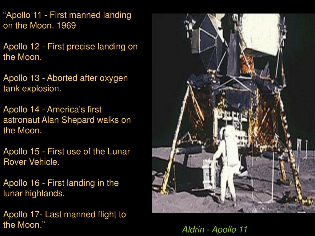 """Apollo 11 - First manned landing on the Moon. 1969"