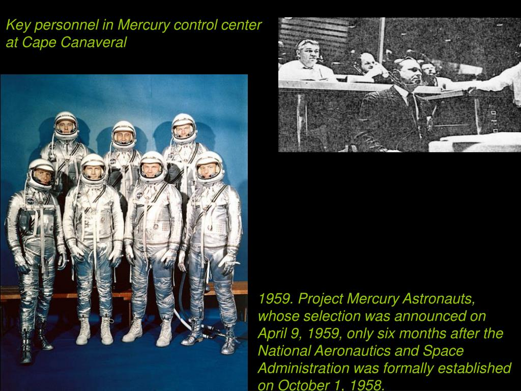 Key personnel in Mercury control center at Cape Canaveral