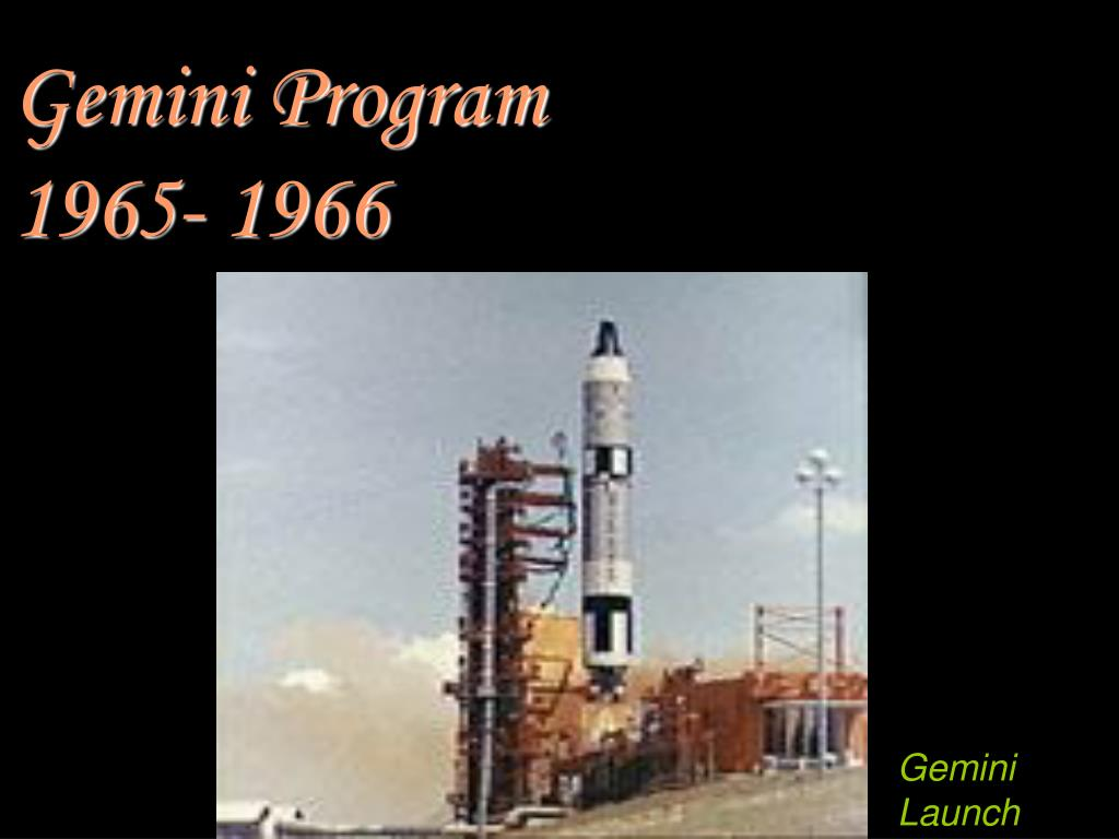 Gemini Program    1965- 1966