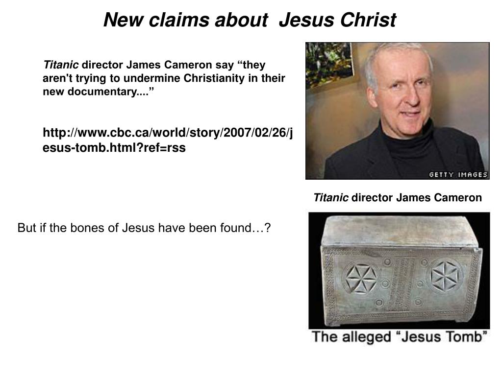 New claims about  Jesus Christ