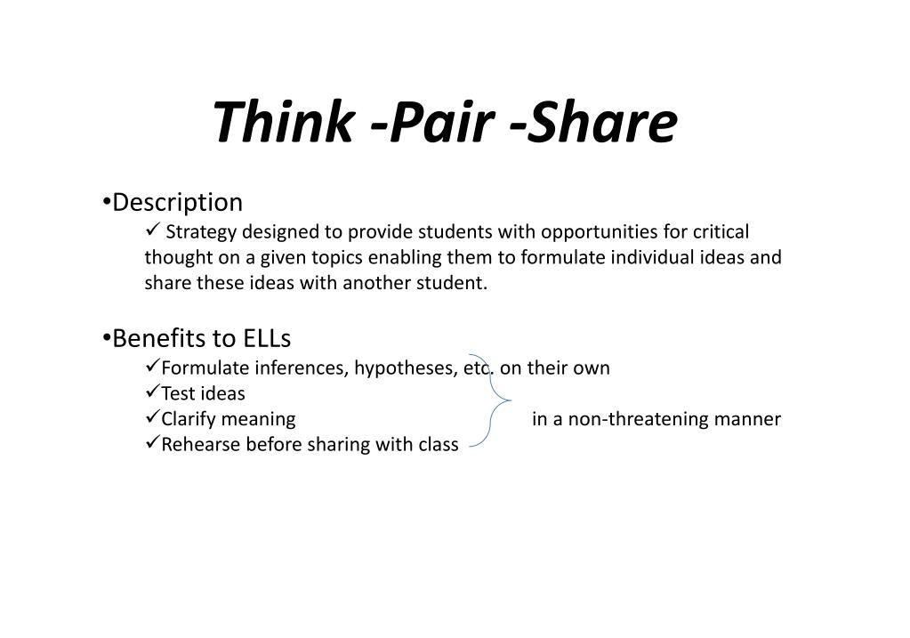 Think -Pair -Share