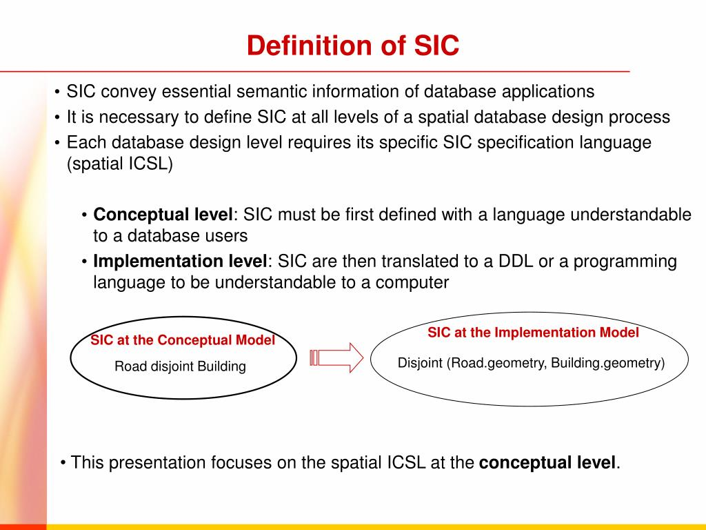 Definition of SIC