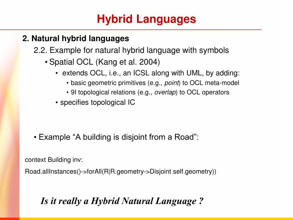 Hybrid Languages