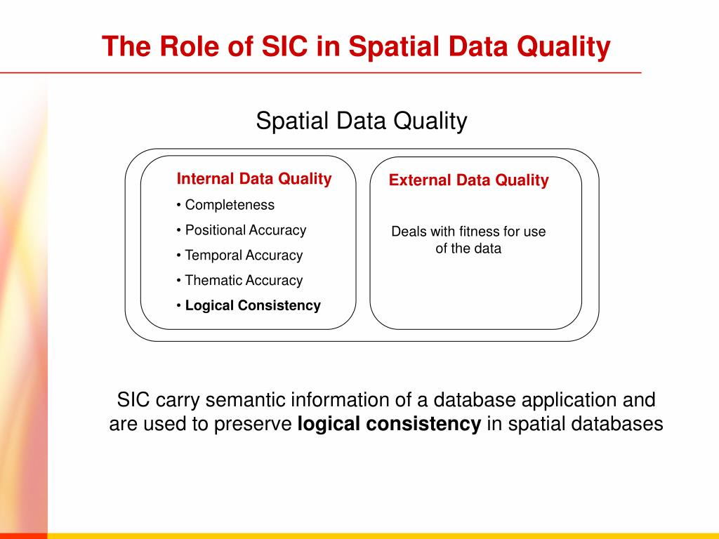 The Role of SIC in Spatial Data Quality