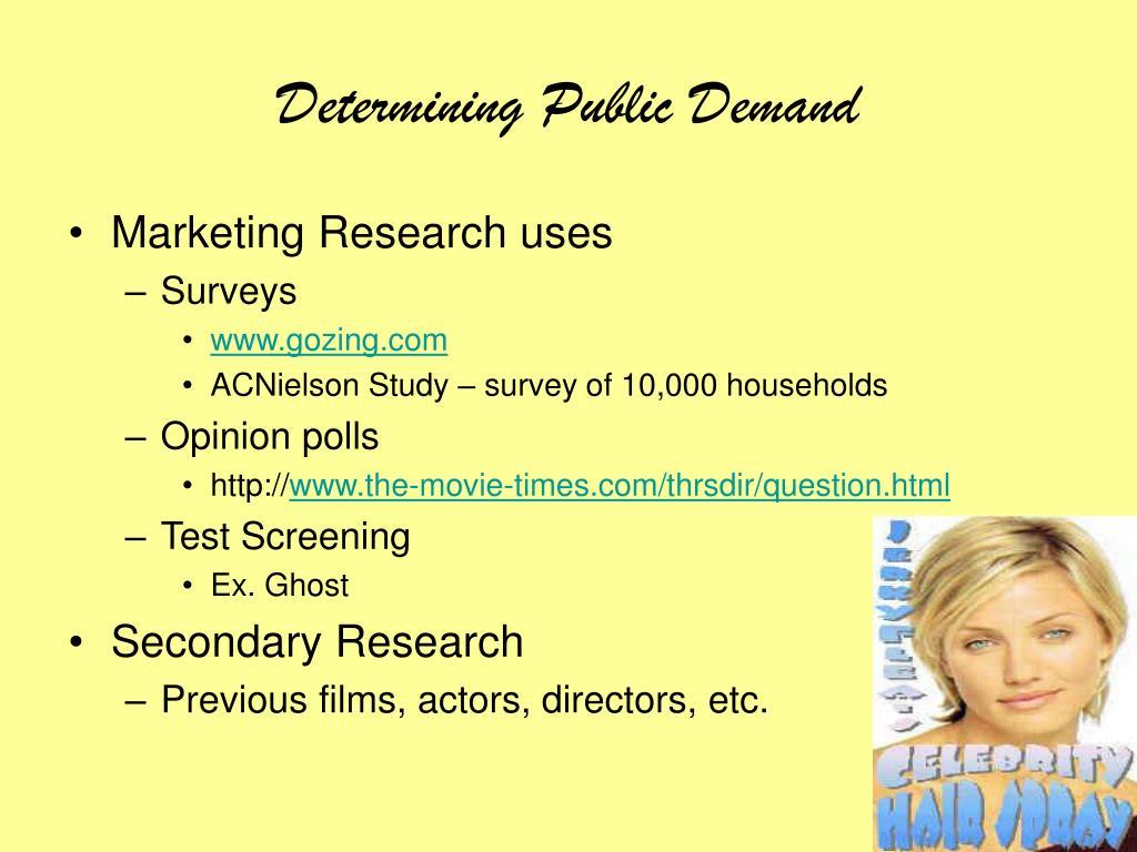 Determining Public Demand