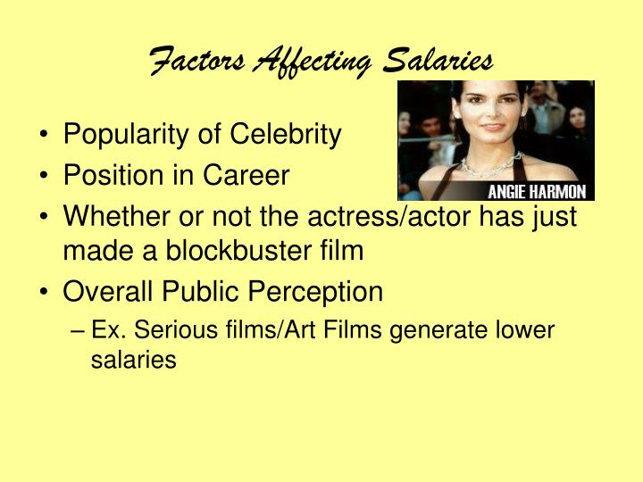 Factors affecting salaries