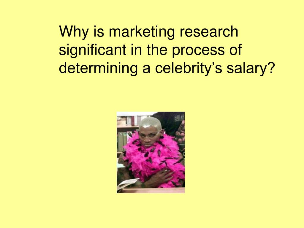 Why is marketing research significant in the process of determining a celebrity's salary?
