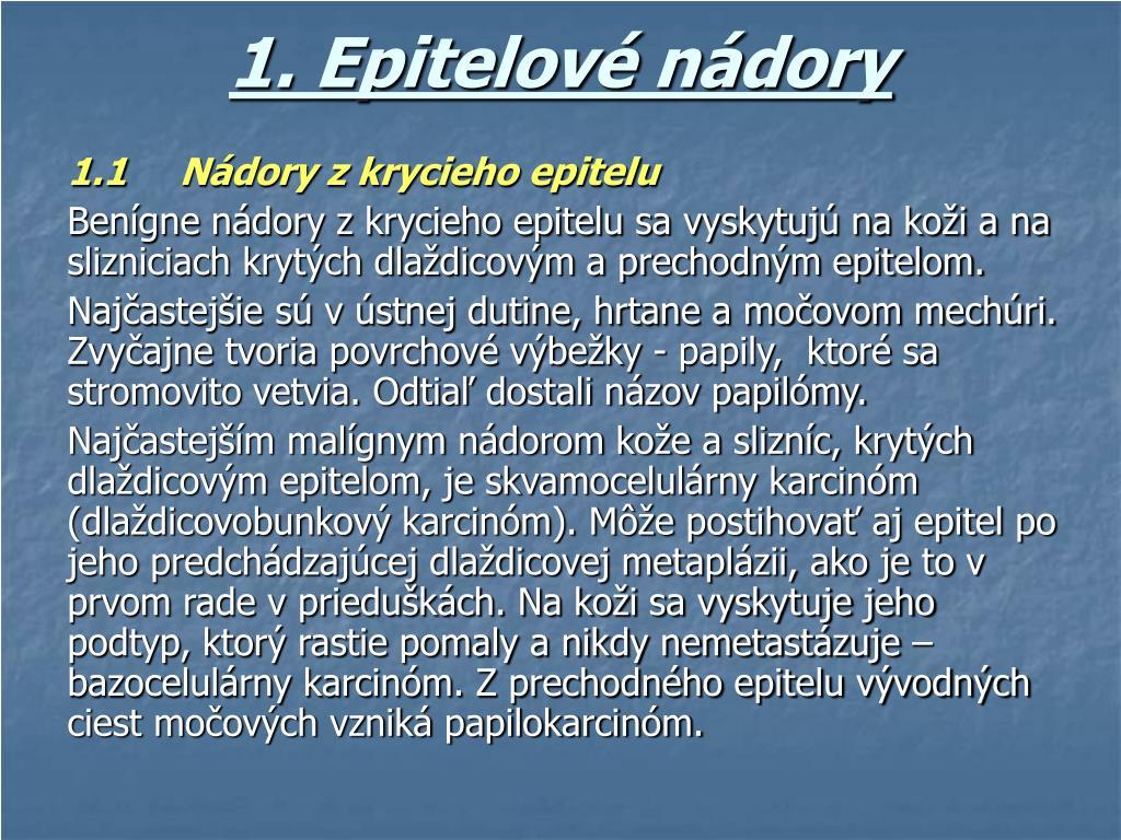 1. Epitelové nádory