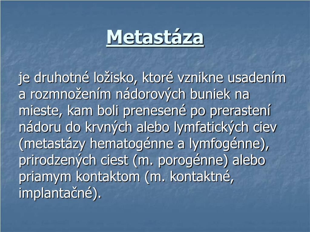 Metastáza