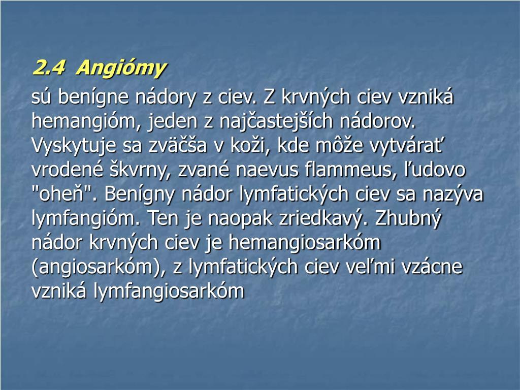 2.4  Angiómy