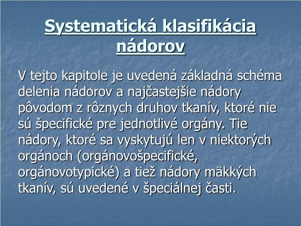 Systematická klasifikácia nádorov
