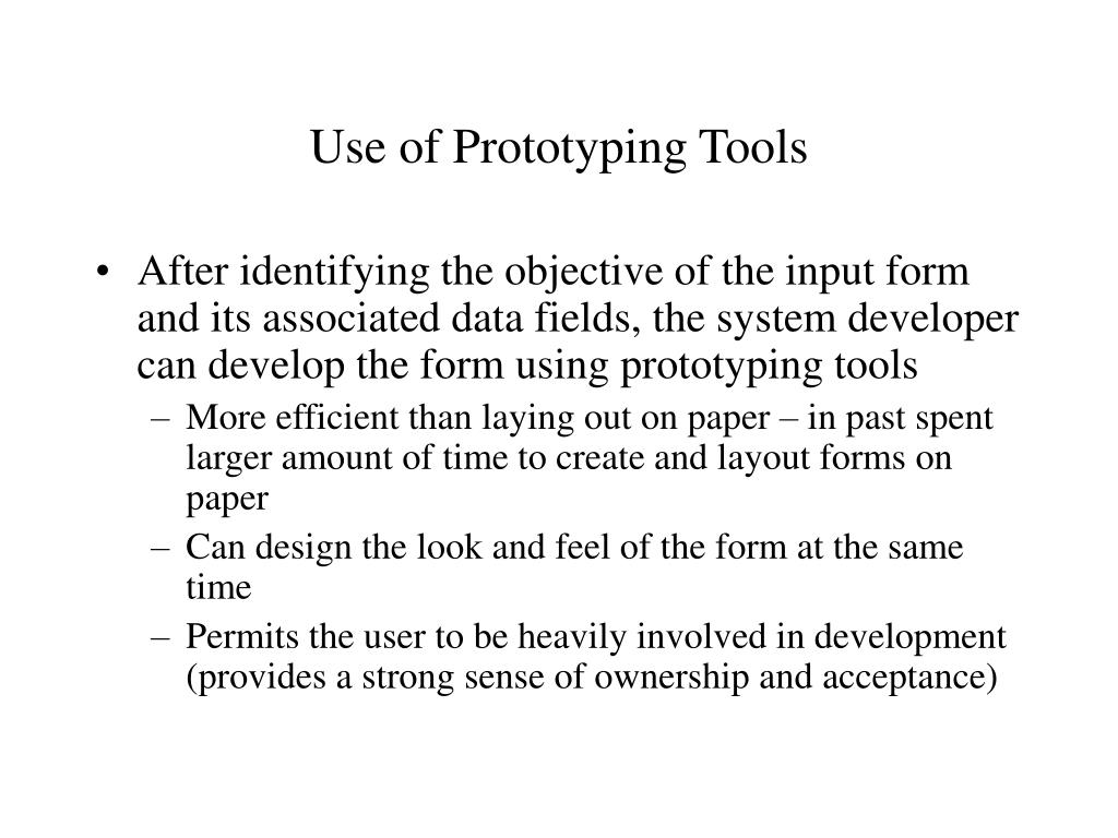Use of Prototyping Tools