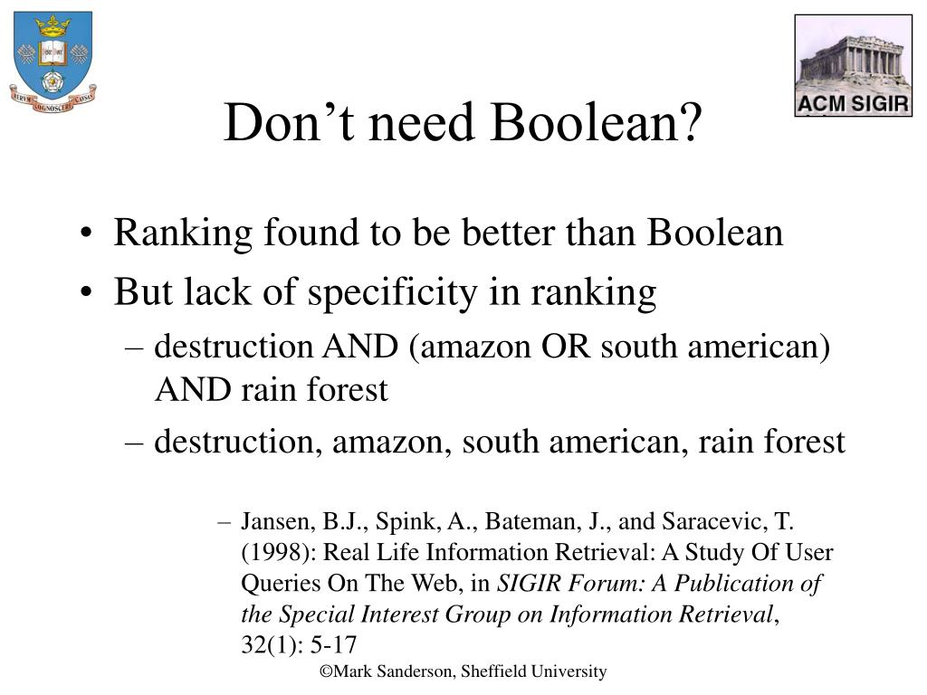 Don't need Boolean?