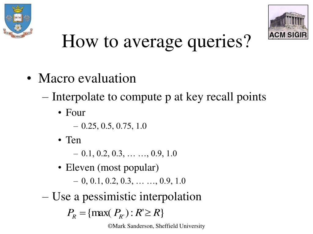How to average queries?