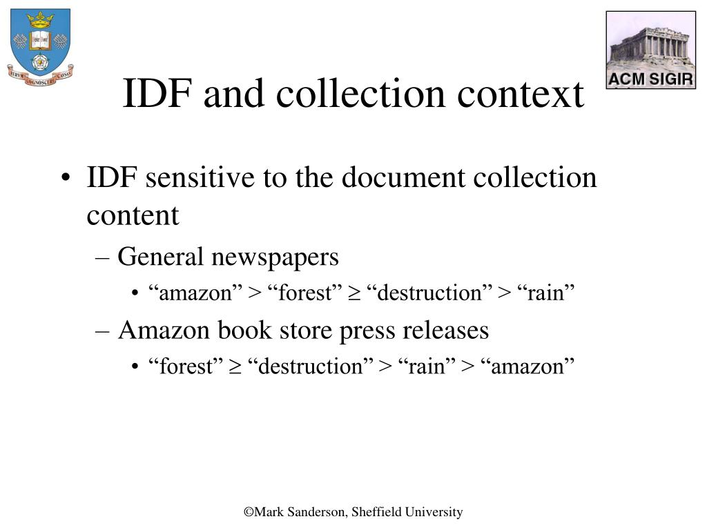 IDF and collection context