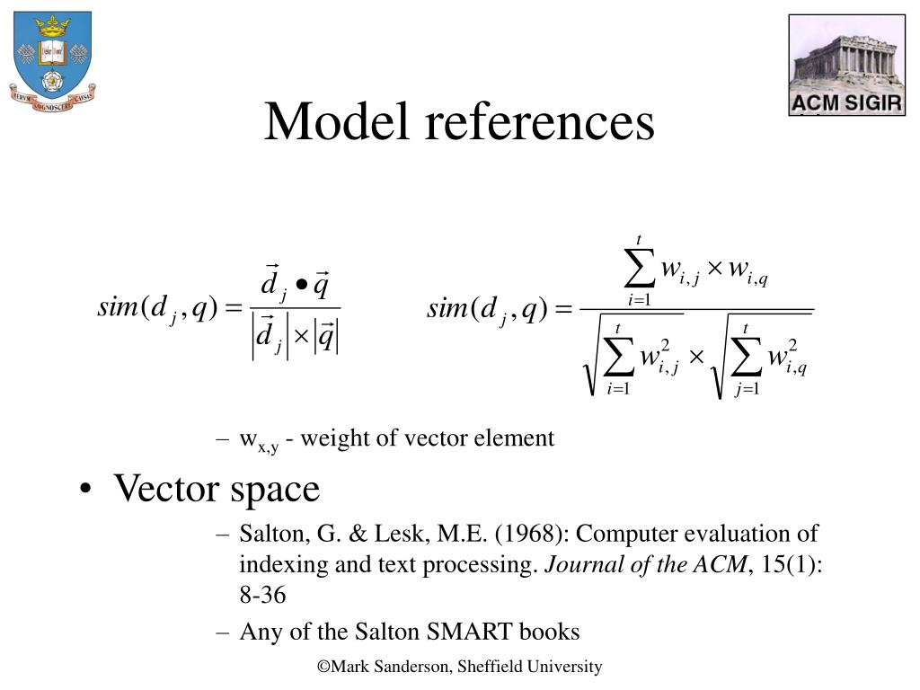 Model references