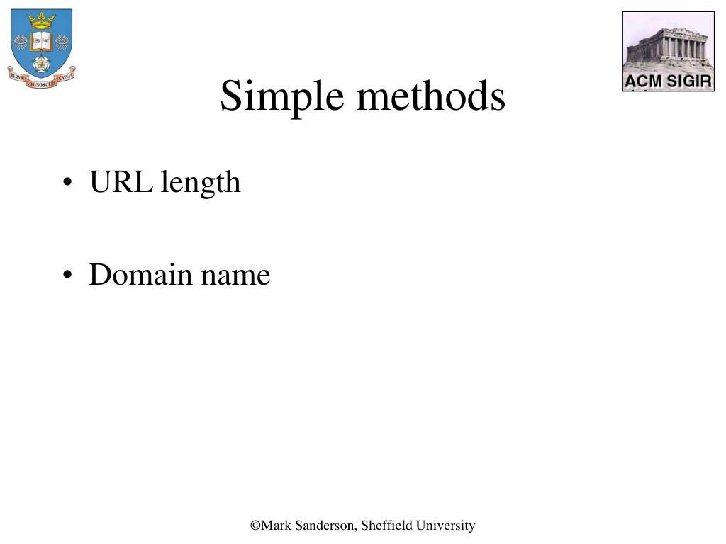 Simple methods