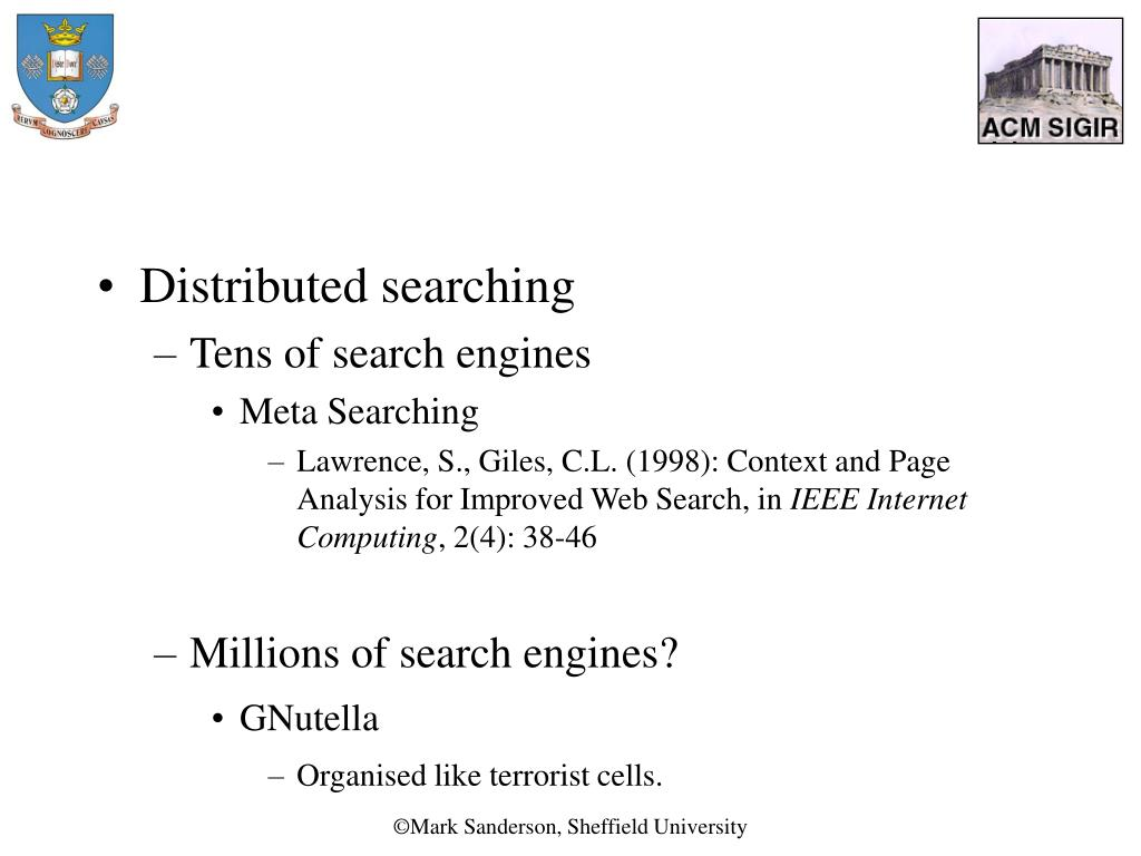 Distributed searching