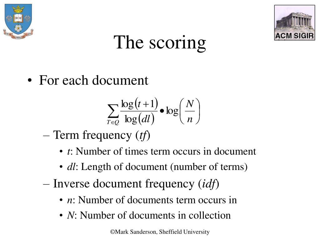 The scoring