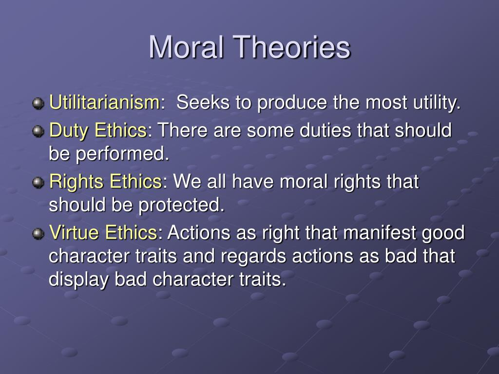 Moral Theories