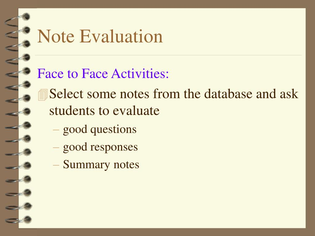 Note Evaluation