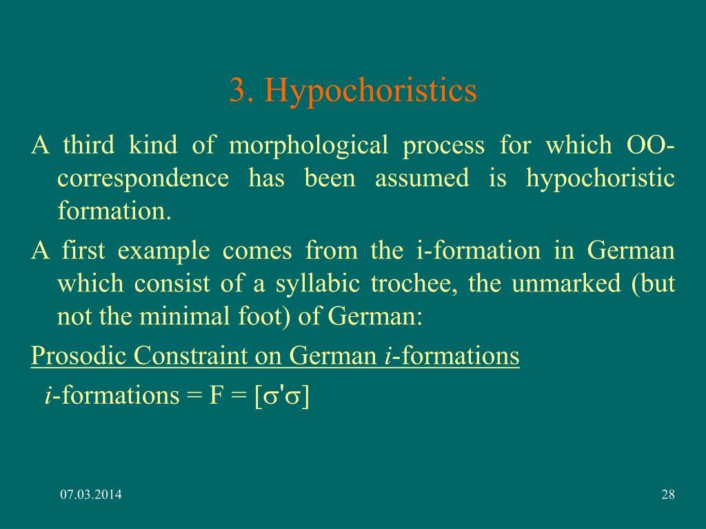 3. Hypochoristics