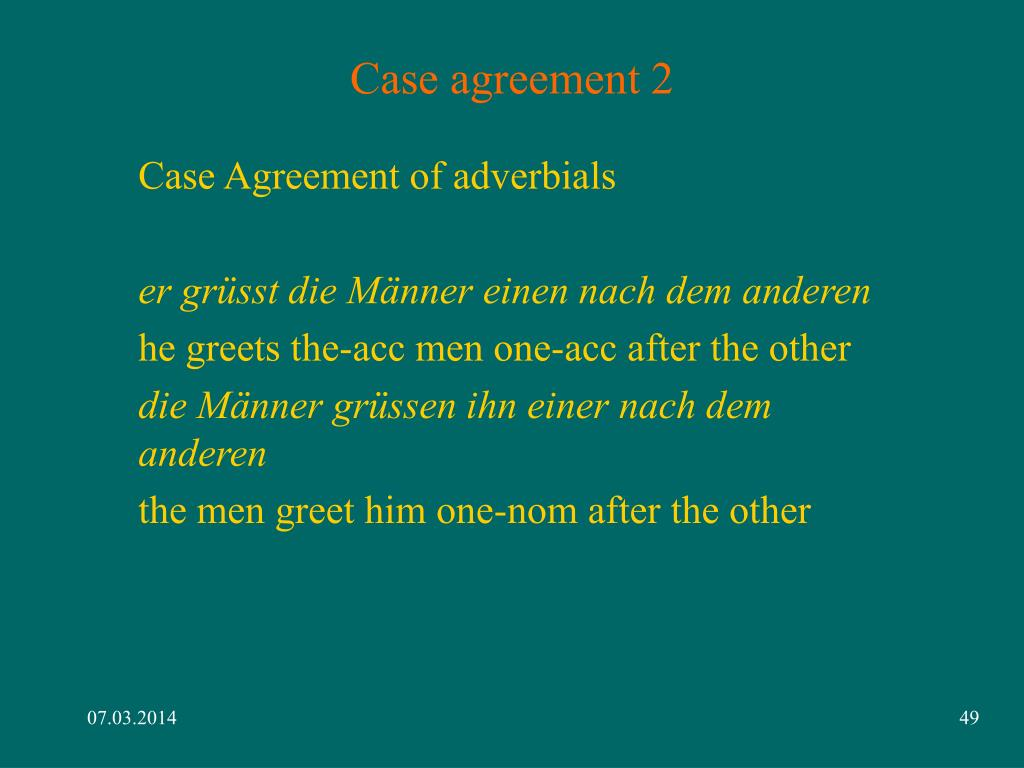 Case agreement 2
